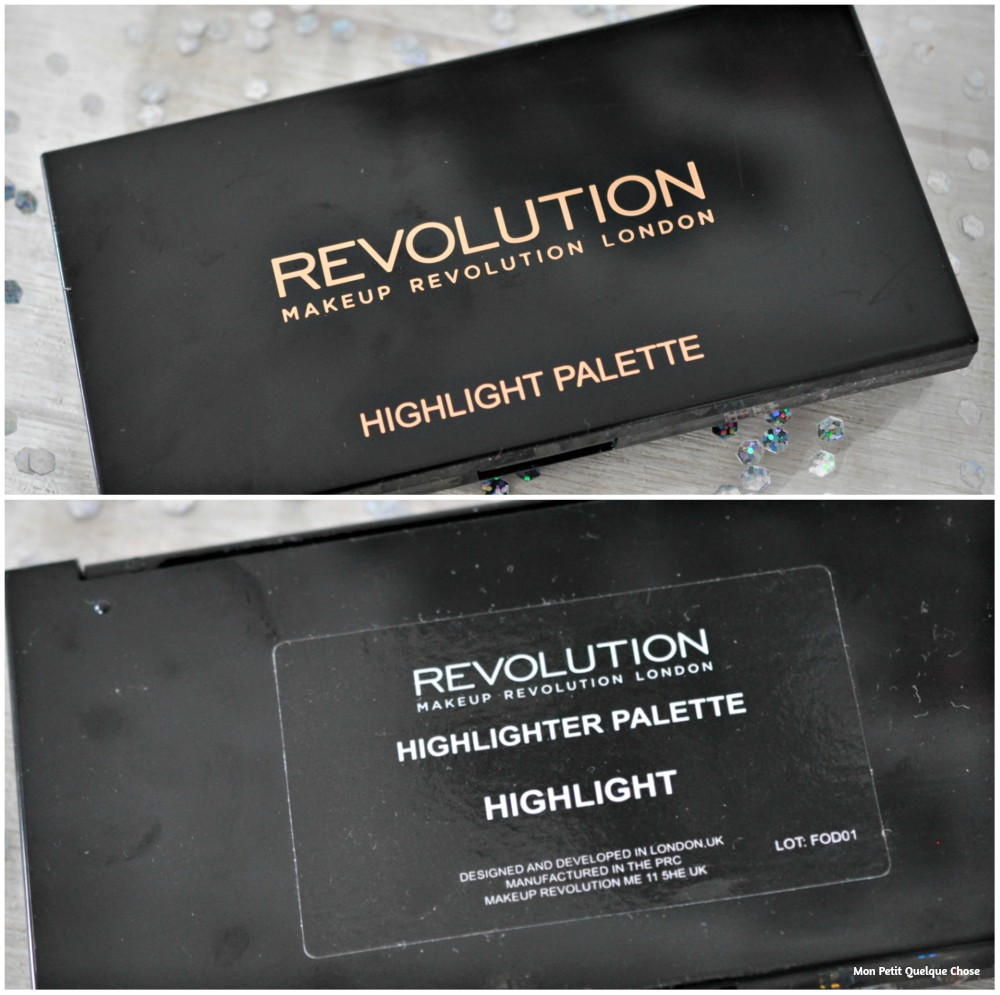 Highlight Palette de Makeup Revolution - Mon Petit Quelque Chose