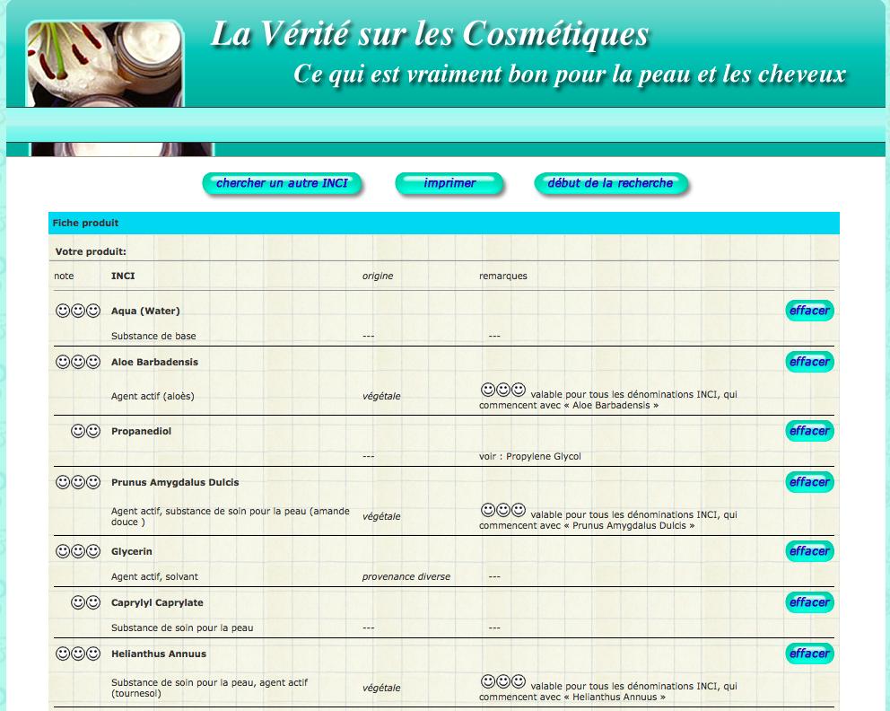 La vérité sur les cosmétiques, composition du Sérum anti-âge, Naturaline, Coop, Mon Petit Quelque Chose