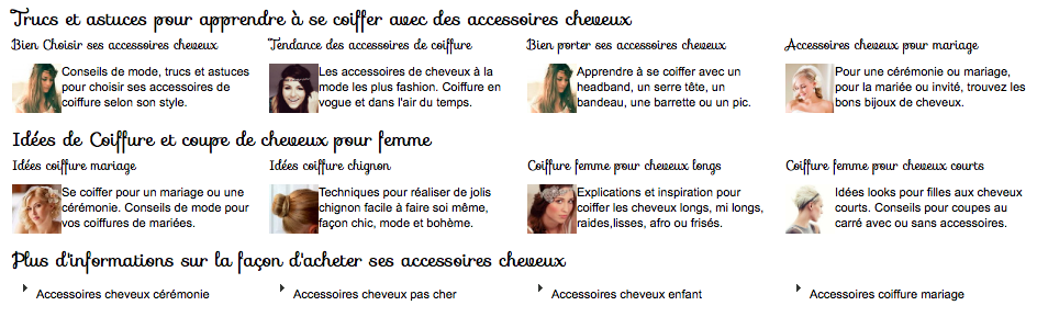 super qualité découvrir les dernières tendances pas cher Accessoires Cheveux Chics, une jolie boutique et un headband ...