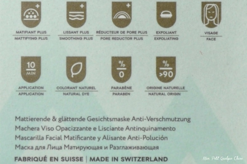 Inalp, Masque Visage Matifiant & Lissant Anti-Pollution ; L'Alpage-Mon Petit Quelque Chose