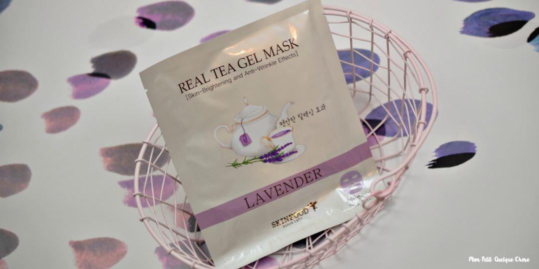 Real Tea Gel Mask de SKINFOOD - Lavender - Mon Petit Quelque Chose