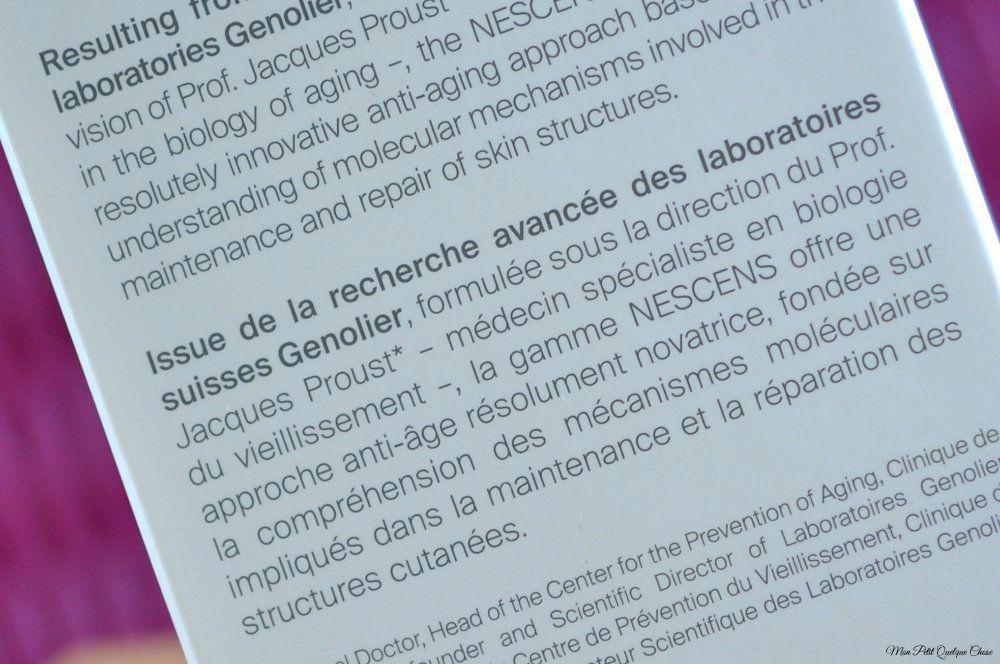Nescens, La Science Anti-Âge Suisse - Mon Petit Quelque Chose